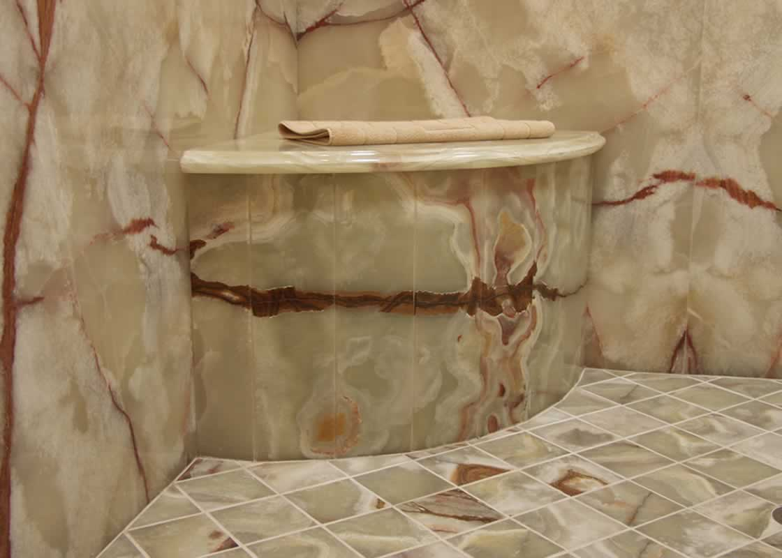 You Are Here Home Onyx Marble Bathroom