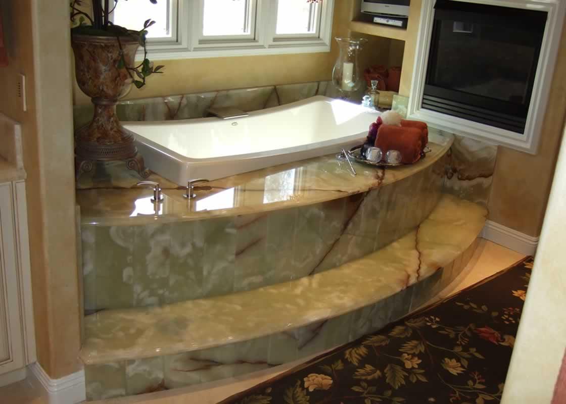 Onyx Marble Bathroom | MilleStone Marble & Tile