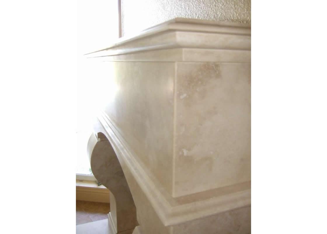 noce travertine fireplace millestone marble u0026 tile