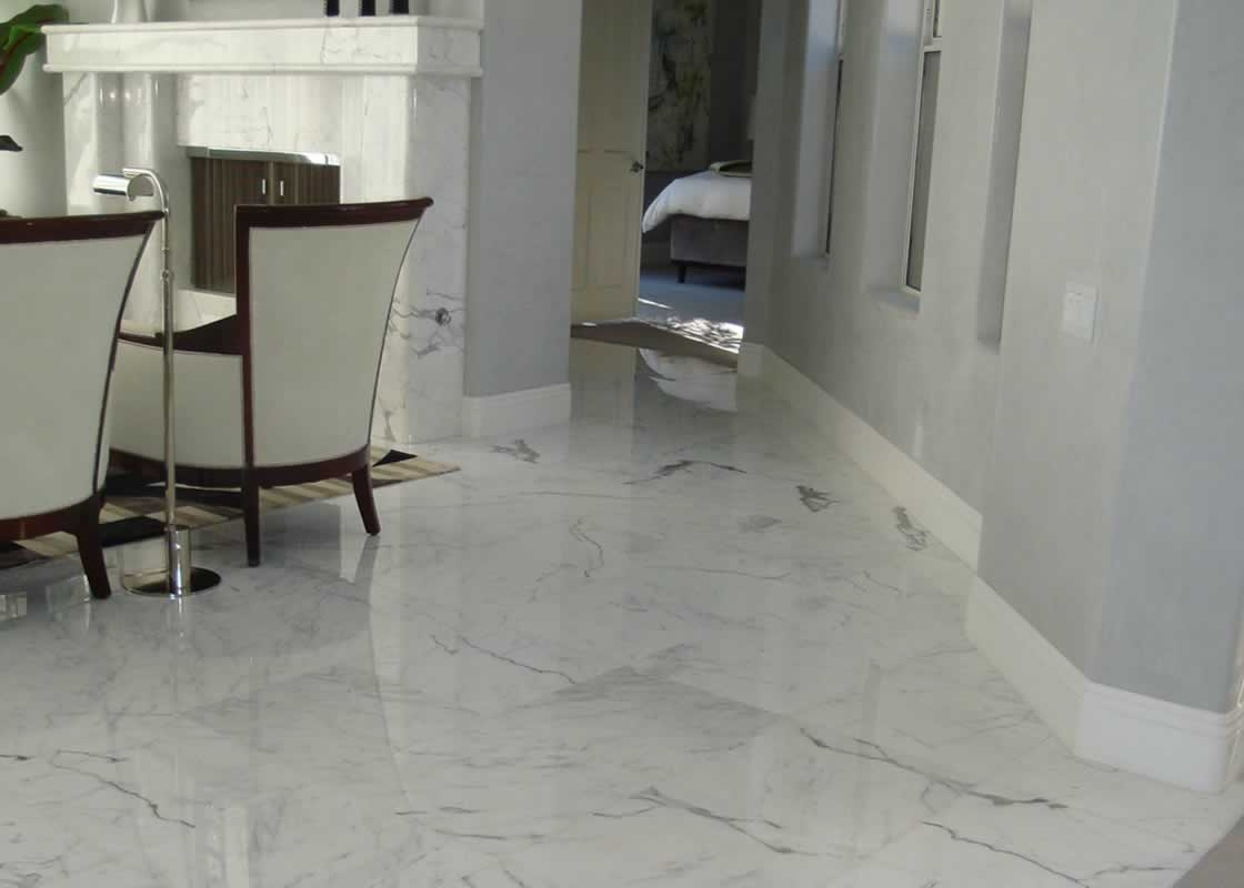 White carrara flooring millestone marble tile for Floor description
