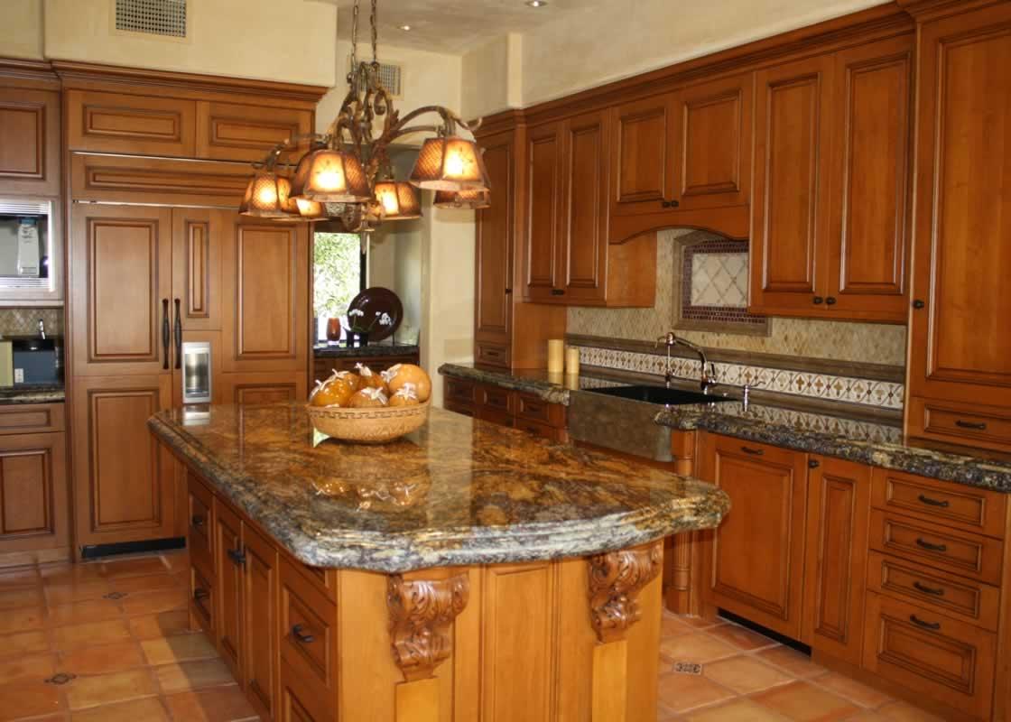 Yellow river granite kitchen millestone marble tile for Kitchen ideas with yellow countertops