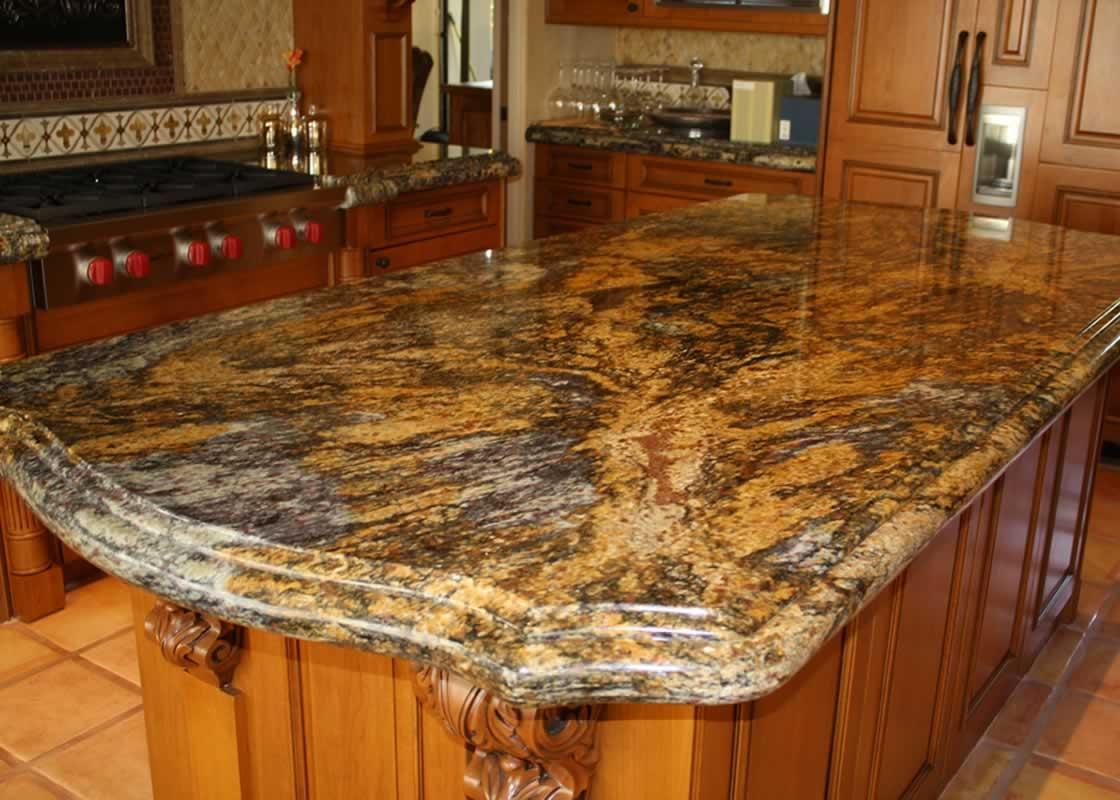 Caramel Brown Granite Kitchen