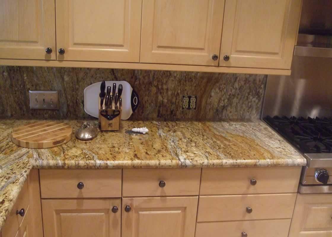 Crema bordeaux kitchen millestone marble tile for Kitchen ideas with yellow countertops